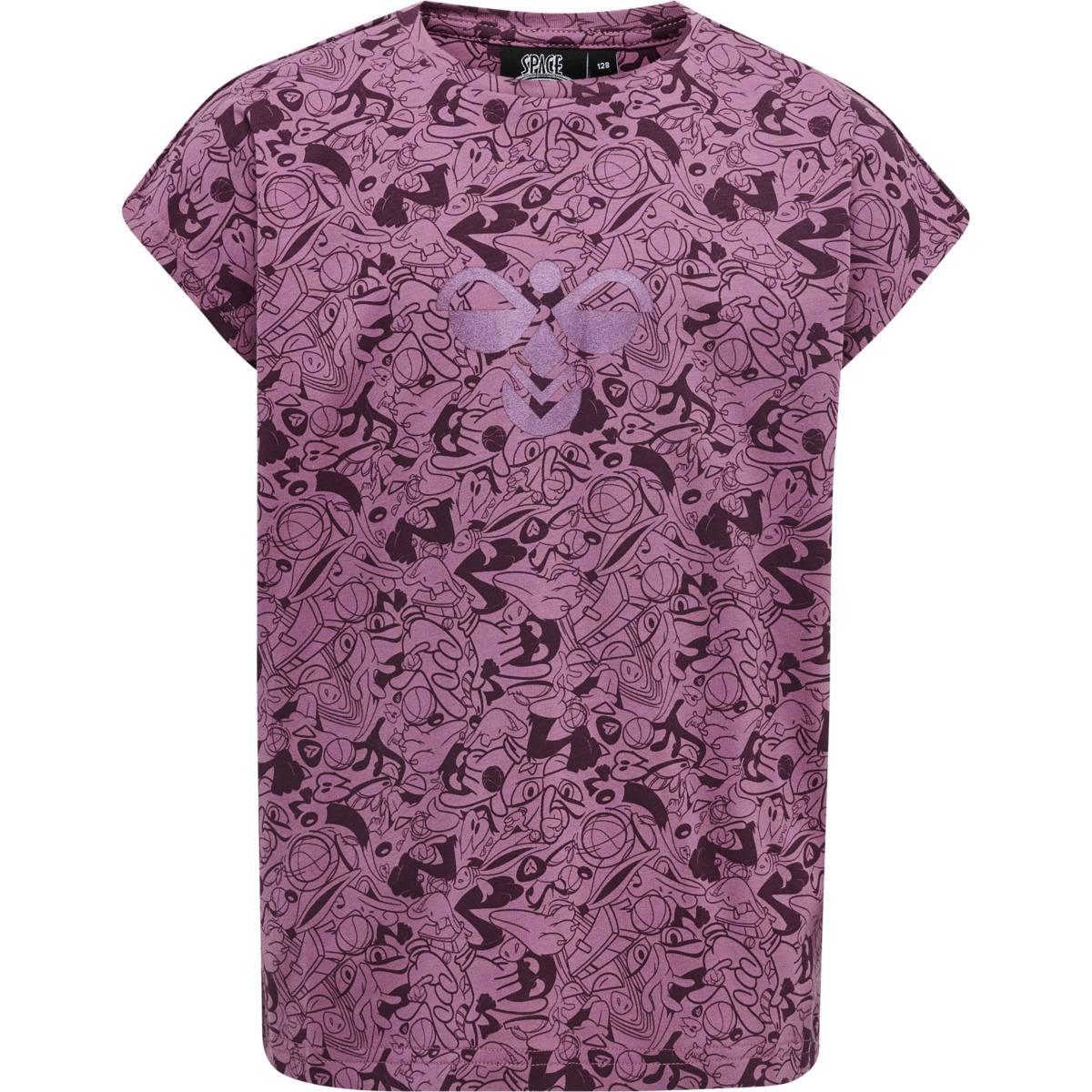 Hummel Space Jam Diez t-skjorte til barn, bordaux